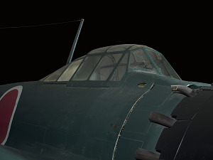 Outside of cockpit of green Zero Fighter aircraft-thumbnail 10