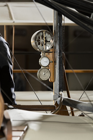Metal circular wind mechanism attached to wooden frame in 1903 Wright Flyer-thumbnail 11