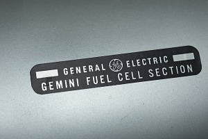 Black label with General Electric logo and