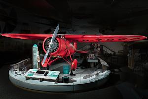 Amelia Earhart Lockheed Vega 5B aircraft in museum