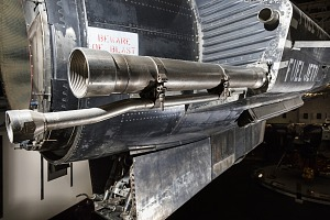 Long slim metal exhaust pipes on side of North American X-15 aircraft-thumbnail 23