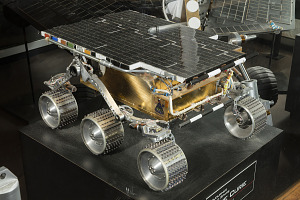 Front-side view of metal Rover Engineering Test Vehicle on display-thumbnail 2