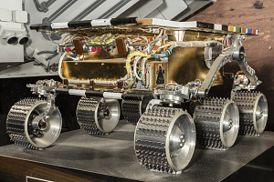 Front-side view of metal Rover Engineering Test Vehicle on display-thumbnail 4