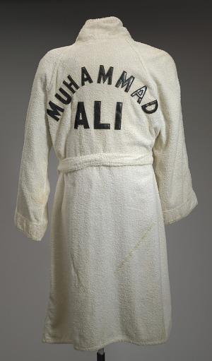 Image for White terrycloth robe worn by Muhammad Ali during training at Deer Lake