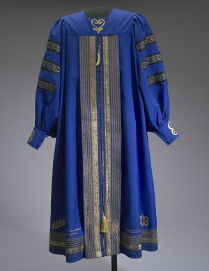 Image for Academic robe worn by Dr. Johnnetta B. Cole at Bennett College