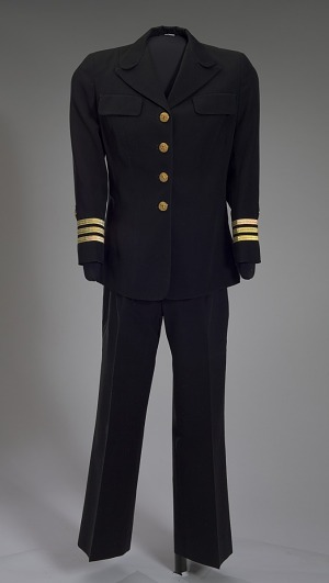 Image for US Navy dress uniform jacket worn by Admiral Michelle Howard