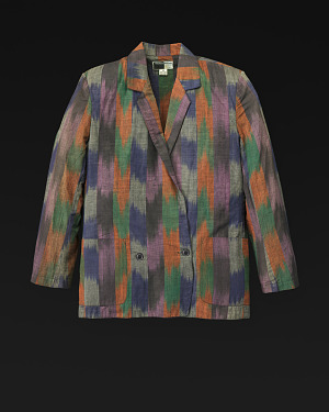 Image for Suit: jacket, blouse, and skirt designed by Willi Smith