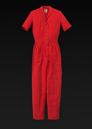 Image for Red jumpsuit designed by Willi Smith