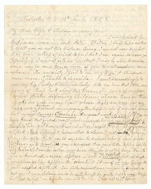 Image for Letter written by John Brown and Frederick Douglass to Brown's wife and children