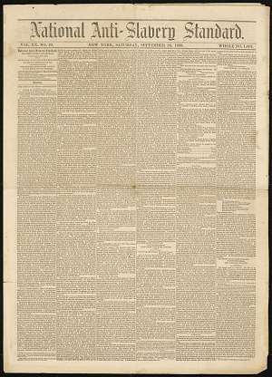 Image for National Anti-Slavery Standard Vol. XX No. 19