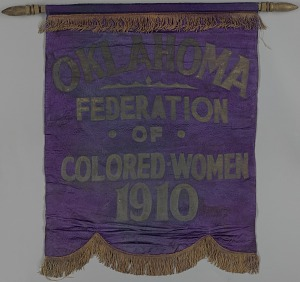 Image for Banner used by the Oklahoma Federation of Colored Women's Clubs