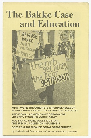 Image for The Bakke Case and Education