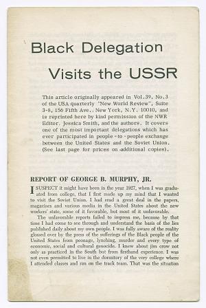 Image for Black Delegation Visits the USSR