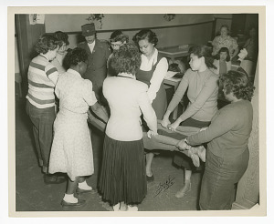 Image for Photograph of Frances Albrier teaching first aid