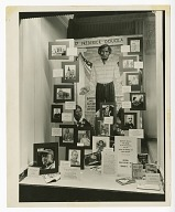Photograph of a Black History Week display in Oakland, CA