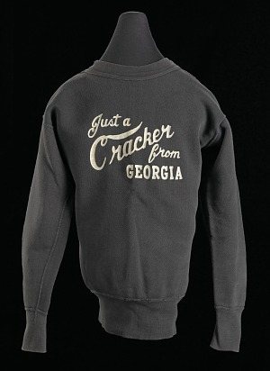 """Image for Sweat shirt with the slogan """"Just a Cracker from Georgia"""""""