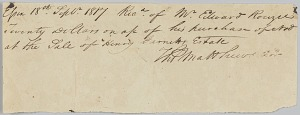 Image for Receipt for purchase of a man named Ned by Edward Rouzee from an estate sale