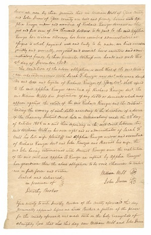 Image for Transcript of court record regarding payment for hire of enslaved persons