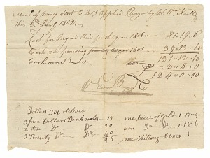 Image for Payment receipt for the hiring of enslaved persons owned by Apphia Rouzee