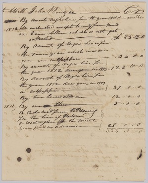 Image for List of payments to Apphia Rouzee in account with John Rouzee