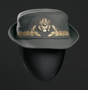 Image for Women's US Army Service hat worn by Brigadier General Hazel Johnson-Brown