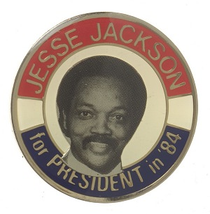Image for Lapel pin for the Jesse Jackson 1984 presidential election