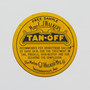 """Image for Tin for Madam C. J. Walker's """"Tan-Off"""""""