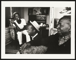 Image for James Baldwin with painter Beauford Delaney and the daughter of singer Bertice Reading, Istanbul, Summer 1966