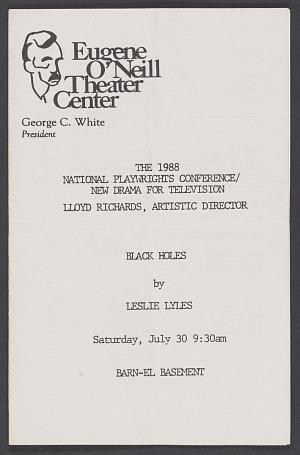 Image for Theatre program for Black Holes