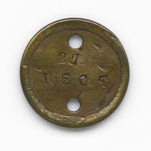 Image for Identification tag for Civil War soldier Qualls Tibbs