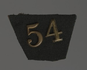 """Image for The number """"54"""" in brass"""