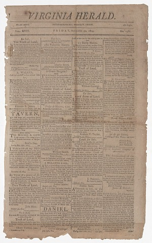 Image for Virginia Herald Vol. XVIII No. 1386