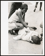 Image for Photograph of a woman and the body of Billy Furr, shot by police in Newark Riots
