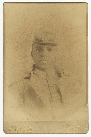 Image for Cabinet card of Col. Charles Young as a cadet at West Point