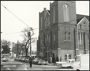 Image for Auburn Avenue in Atlanta, Georgia Wednesday morning January 15, 1969