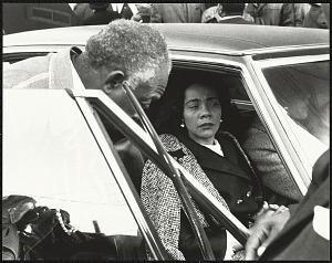Image for Mrs. Coretta Scott King arrives at Ebenezer Baptist Church