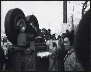 Image for Mrs. Coretta Scott King walking to her limousine after the first birthday celebration of Dr. Martin Luther King, Jr.