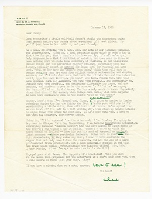 Image for Letter to James Baldwin from Alex Haley