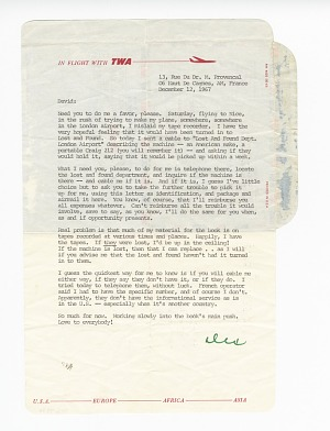Image for Letter to David Baldwin from Alex Haley