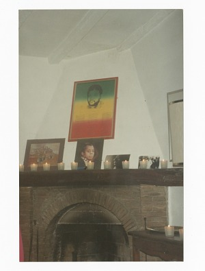 Memorial photograph of the interior of James Baldwin's home in France