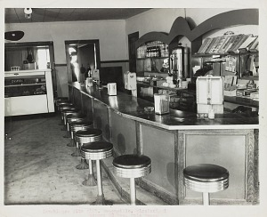 Image for Photograph of the interior of a restaurant
