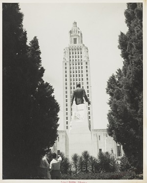 Image for Photograph of the Louisiana State Capitol and Huey Long monument