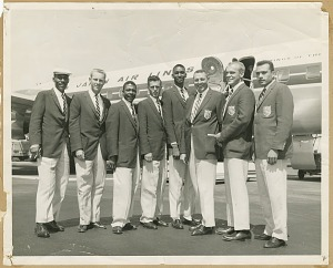 Image for Photograph of the U.S. AAU Track and Field Team in Tokyo, Japan