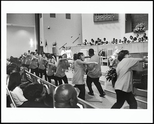 Image for The step team adds energy to the services at Alfred Street Baptist Church, Alexandria, Virginia, 2003