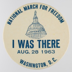 Image for Pinback button for the 1963 Freedom March
