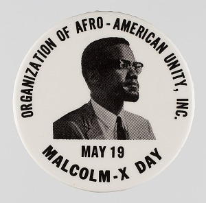 Image for Pinback button promoting Malcolm-X Day