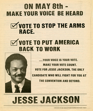 Image for Newspaper insert for Jesse Jackson 1984 presidential campaign