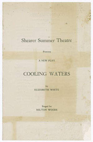 Image for Program for Shearer Summer Theatre's production of Cooling Waters