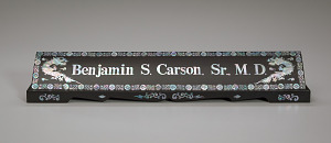Image for Desktop nameplate used by Dr. Ben Carson