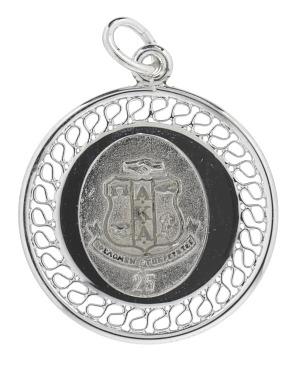 Image for Pendant for Alpha Kappa Alpha Sorority member's silver anniversary